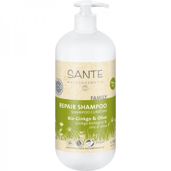 Family Repair Shampoo Bio-Ginkgo & Olive, 950ml - Sante