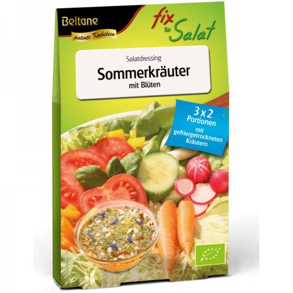 Fix für Salat Sommerkräuter mit Blüten Bio, 27g - Beltane