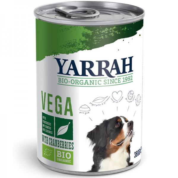 Hundefutter Bröckchen Vega in der Dose Bio, 380g - Yarrah