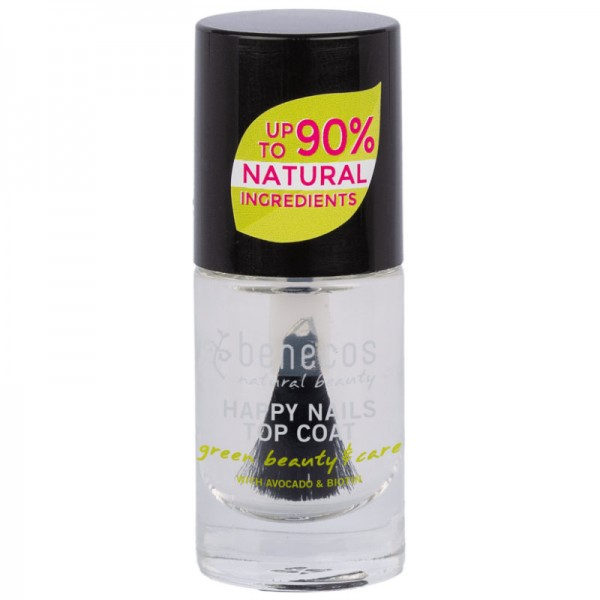 Nail Polish crystal Top Coat, 5ml - Benecos