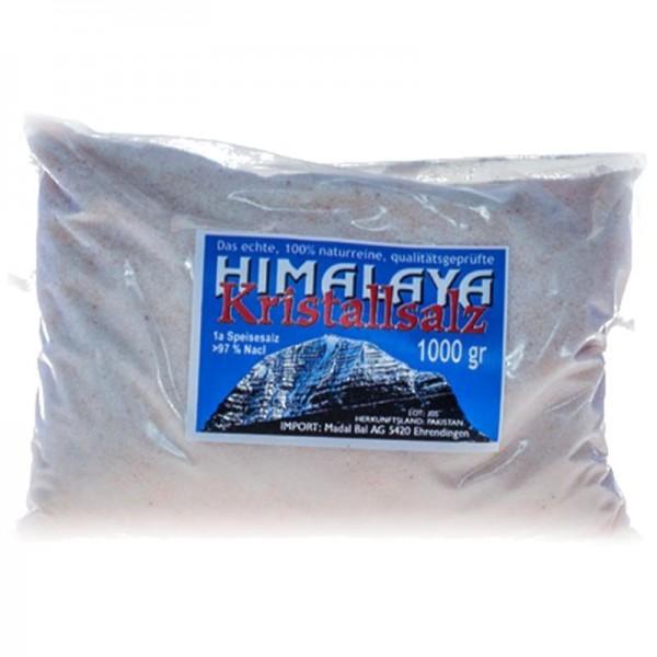 Himalaya Kristallsalz fein gemahlen, 1kg - Madal Bal
