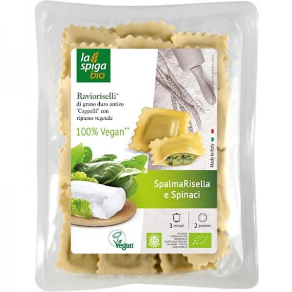 Ravioriselli mit CreamyRisella und Spinat Bio, 250g - Frescolat