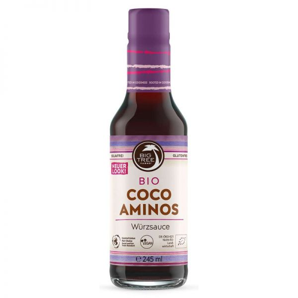 Cocos Aminos Würzsauce Bio, 245ml - Big Tree Farms
