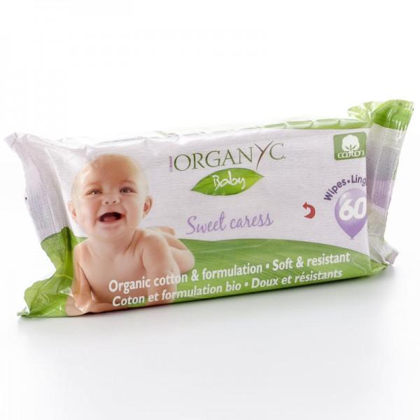Feuchttücher Baby, 60 Stück - Organyc