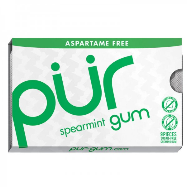 Kaugummi spearmint gum, mini 12.6g - pür gum