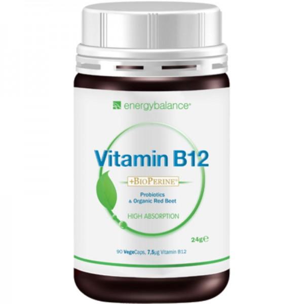 Vitamin B12 biologisch aktiv 7.5µg + BioPerine, 90 VegeCaps - Energybalance