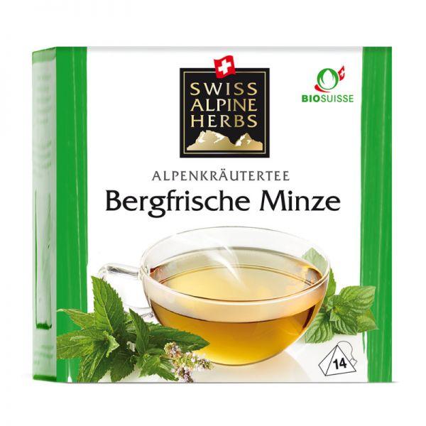 Bergfrische Minzenmischung Tee Bio, 14x1g - Swiss Alpine Herbs