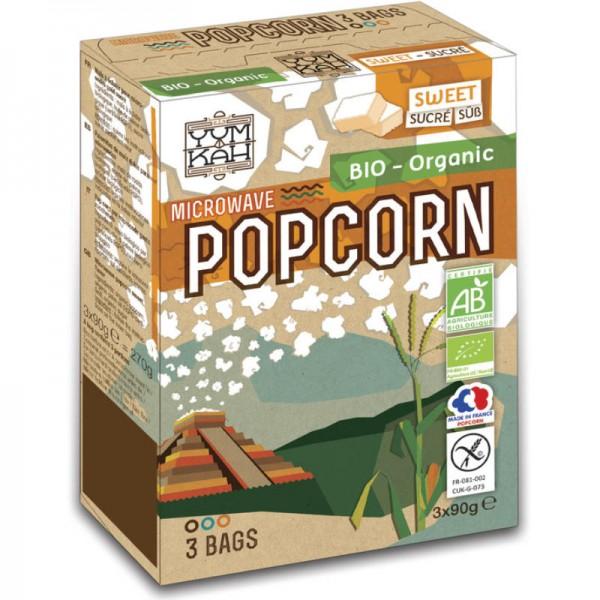 Popcorn süss für die Mikrowelle Bio, 3x 90g - Yum Kah