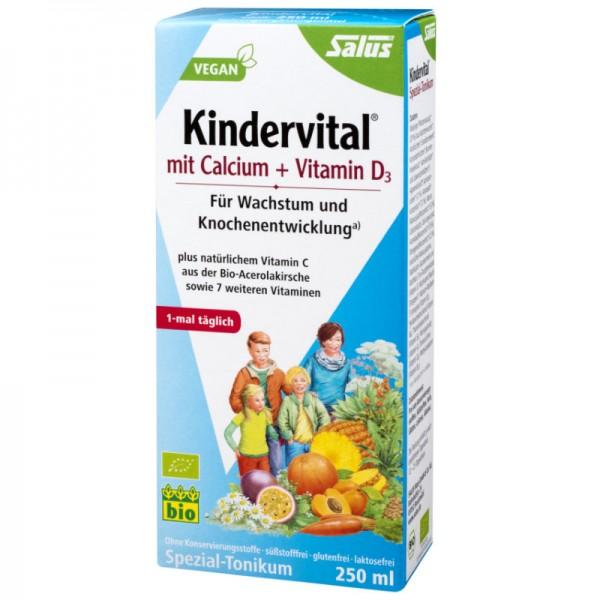 Kindervital mit Calcium + Vitamin D, 250ml - Salus