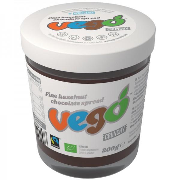 vego Hazelnut Crunchy Chocolate Aufstrich Bio, 200g - vego Chocolate