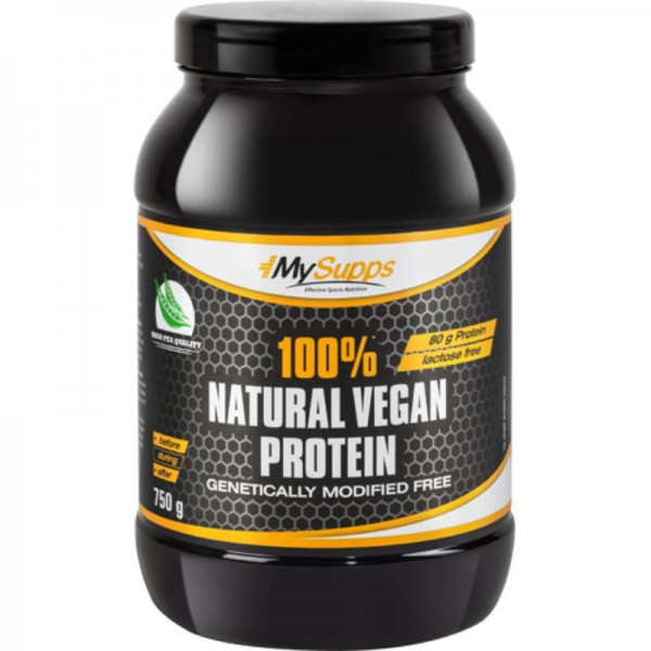 Natural Vegan Protein 100%, 750g - MySupps