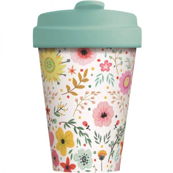 Bamboo Cup Prairie Flowers 400ml, 1 Stück - Chic Mic