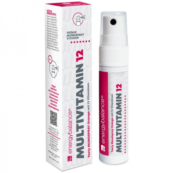 Multivitamin 12 Tasty Mundspray Orange, 25ml - Energybalance