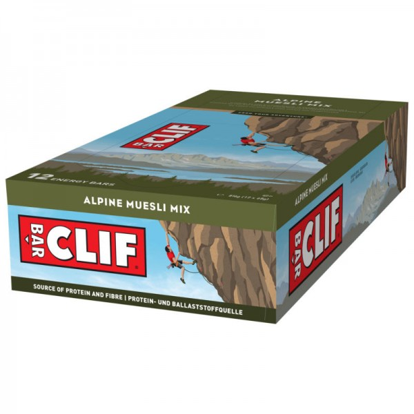 Alpine Muesli Mix Riegel Box, 12 Stück - Clif Bar