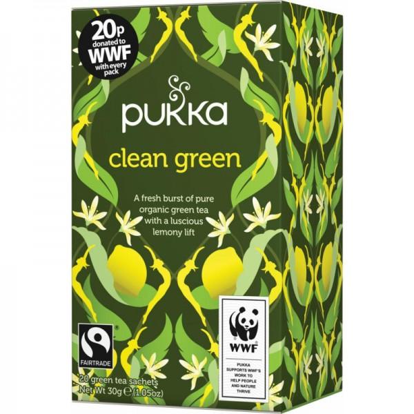 Clean Green Grüntee Bio, 30g - Pukka