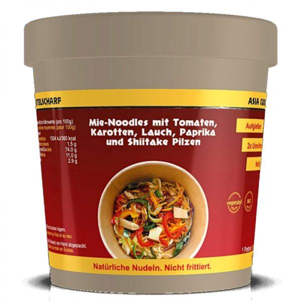 Mie-Noodles Asia Cuisine mit Gemüse Bio, 100g - Pastarama
