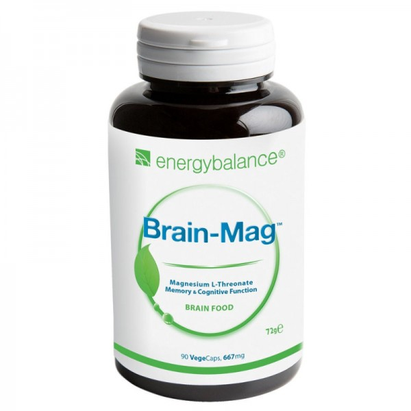 Brain-Mag Magnesium L-Theronate 667mg, 90 VegeCaps - Energybalance