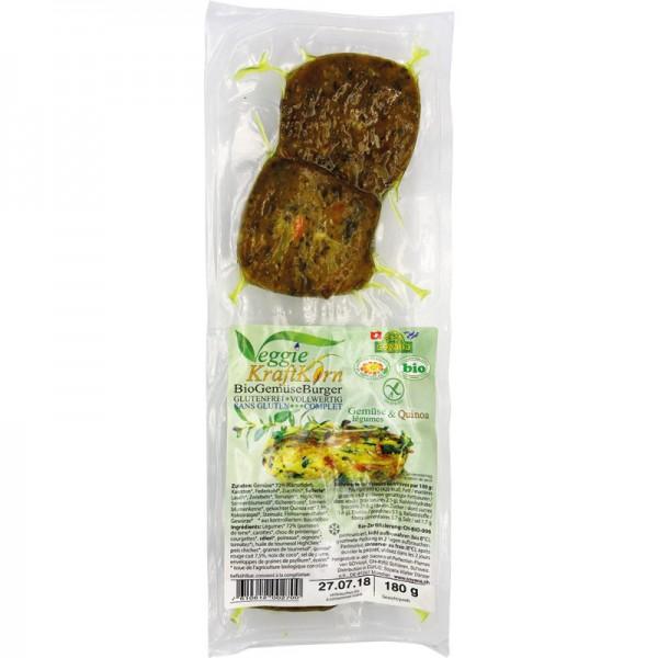 Kraft Korn Burger Gemüse & Quinoa Bio, 180g - Soyana