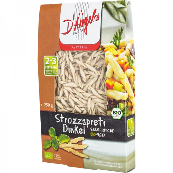 Strozzapreti Dinkel Bio, 250g - D'Angelo Pasta