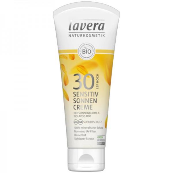 Sensitiv Sonnencreme LSF 30 Bio-Sonnenblume & Bio-Avocado, 100ml - Lavera