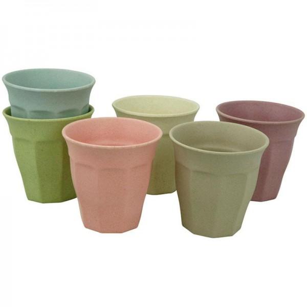 Bambus M Becherset Cupful of Color, 6 Stück - Zuperzozial