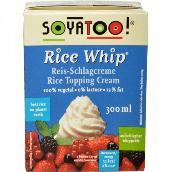 Rice Whip Rice Topping Cream, 300ml - Soyatoo