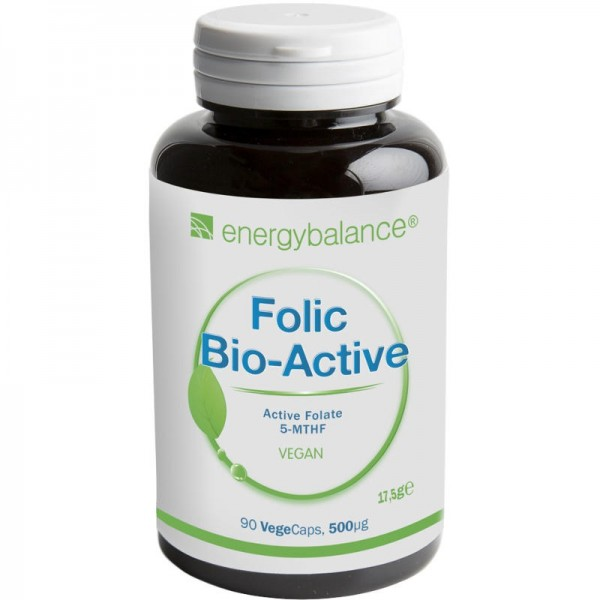 Folsäure Folic Bio-Active 5-MTHF 600µg, 90 VegeCaps - Energybalance