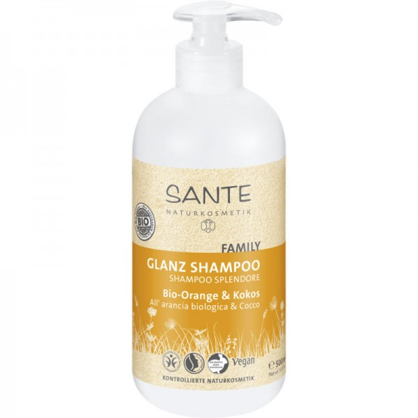 Family Glanz Shampoo Bio-Orange & Kokos, 500ml - Sante