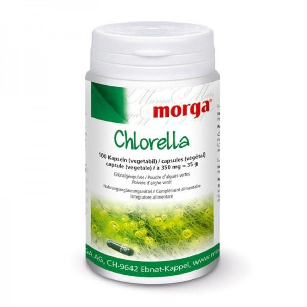 Chlorella Kapseln, 100 Stück - Morga