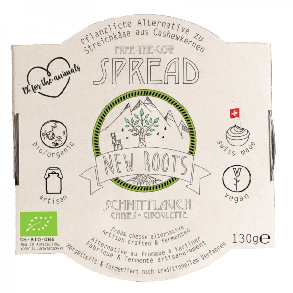 Free-The-Cow Spread Schnittlauch Bio, 130g - New Roots