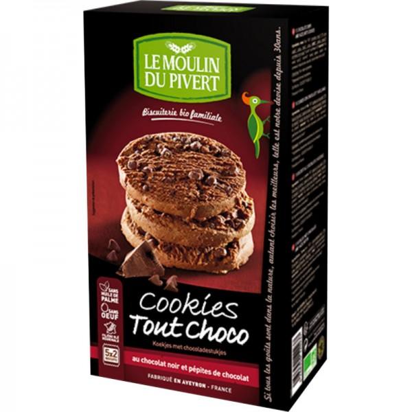 Cookies Tout Choco Schokostückchen Bio, 175g - Le Moulin du Pivert