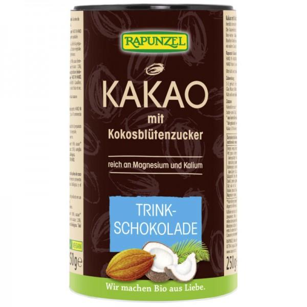 Kakao mit Kokosblütenzucker Trinkschokolade Bio, 250g - Rapunzel