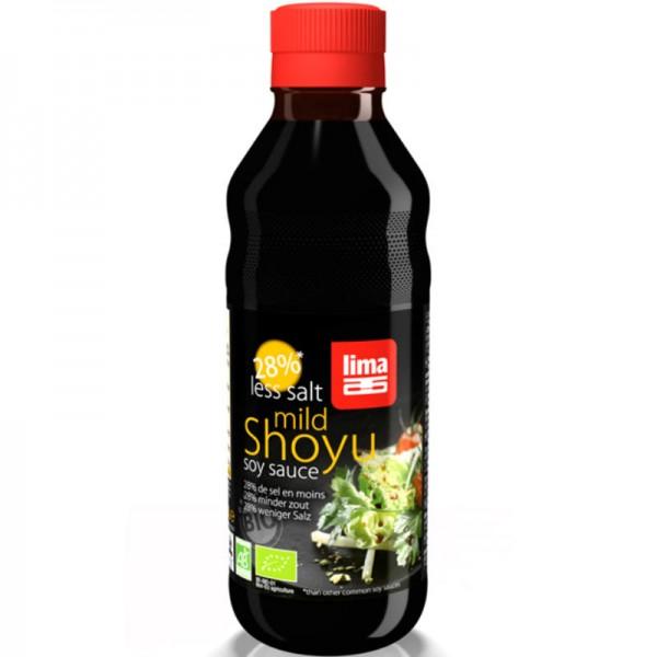 Shoyu mild soya sauce 28% weniger Salz Bio, 250ml - Lima
