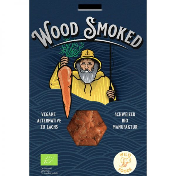 Wood Smoked Rüebli Lax vegane Alternative zu Lachs, 130g - Wild Foods