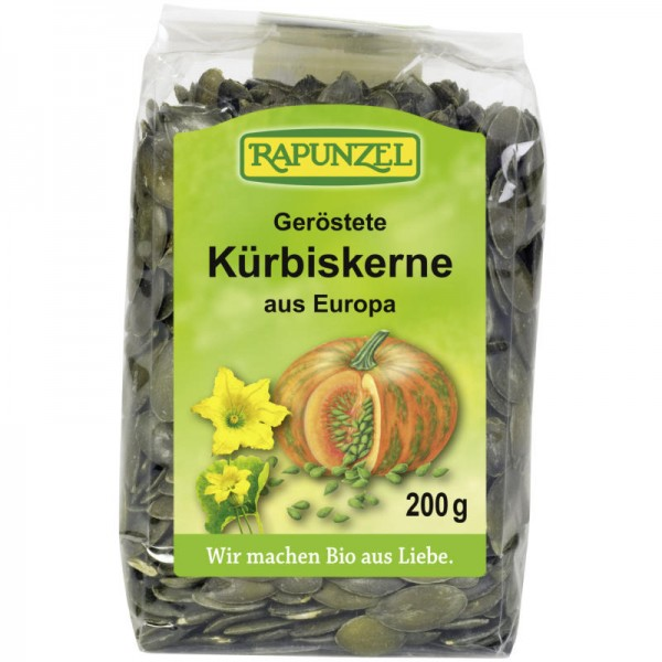 Geröstete Kürbiskerne aus Europa Bio, 200g - Rapunzel