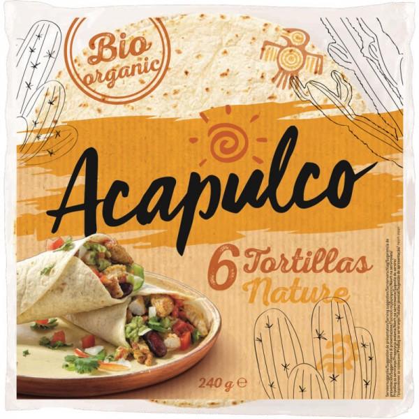 Tortillas 6 Wraps aus Weizen Bio, 240g - Acapulco