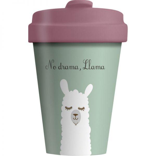 Bamboo Cup Drama Llama 400ml, 1 Stück - Chic Mic