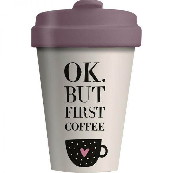 Bamboo Cup First Coffee 400ml, 1 Stück - Chic Mic