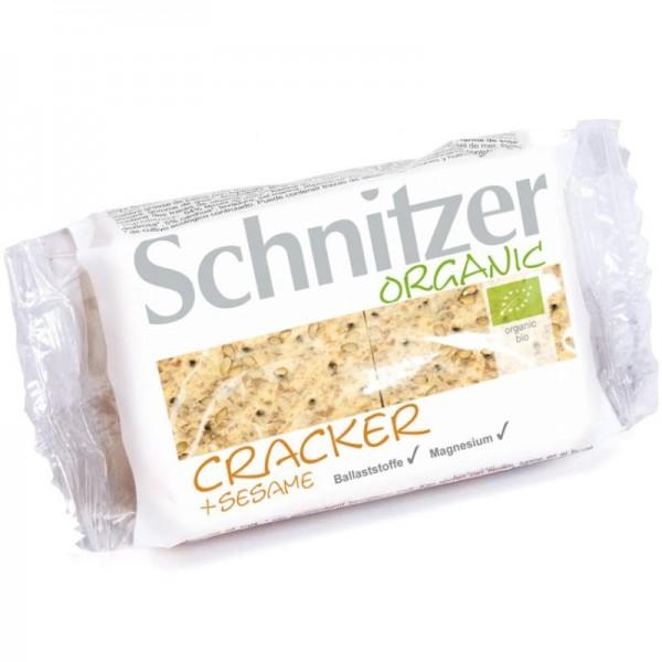 Cracker + Sesame Bio, 100g - Schnitzer