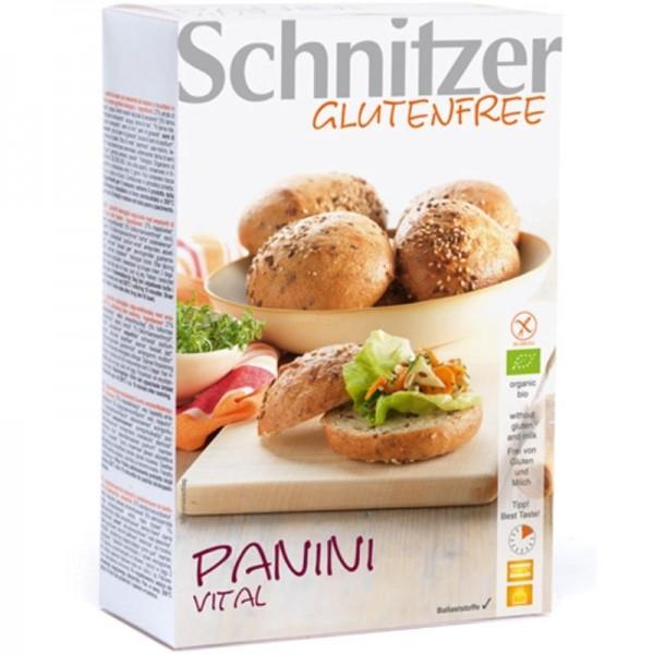 Panini Vital Aufbackbrötchen 4 Stück Bio, 250g - Schnitzer