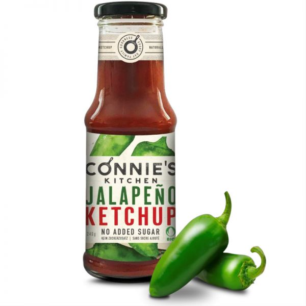 Ketchup Jalapeno Bio, 250g - Connie's Kitchen