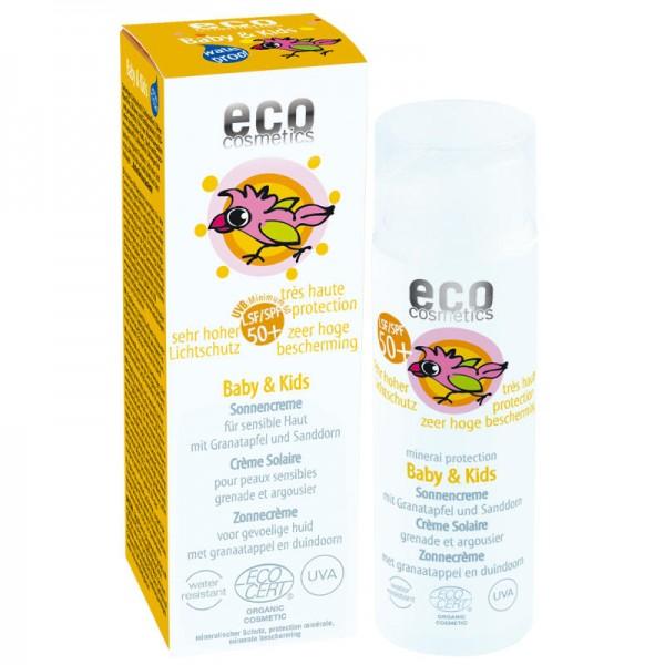 Baby & Kids Sonnencreme mit Granatapfel & Sanddorn LSF 50+, 50ml - eco cosmetics