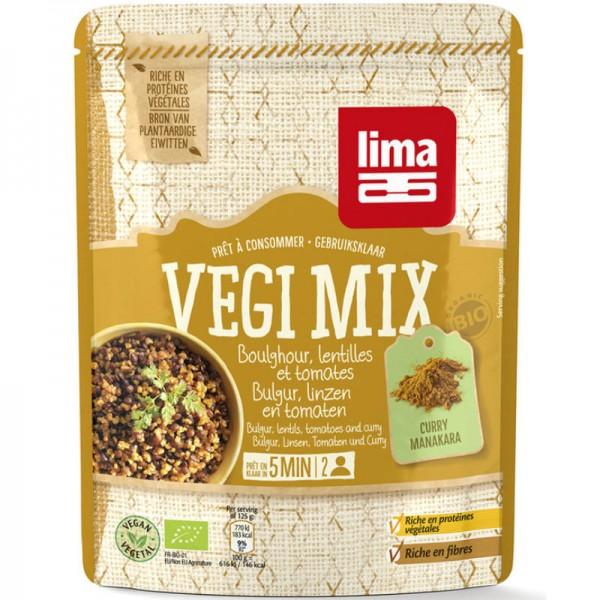 Vegi Mix Bulgur, Linsen, Tomaten und Curry Bio, 250g - Lima