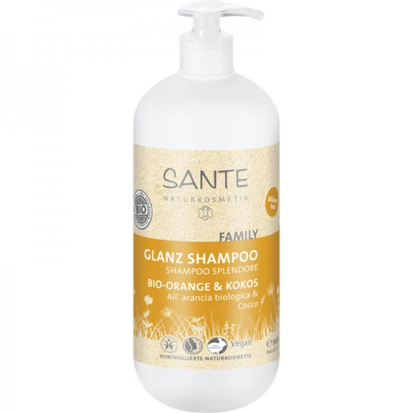 Family Kraft und Glanz Shampoo Bio-Orange & Kokos, 950ml - Sante