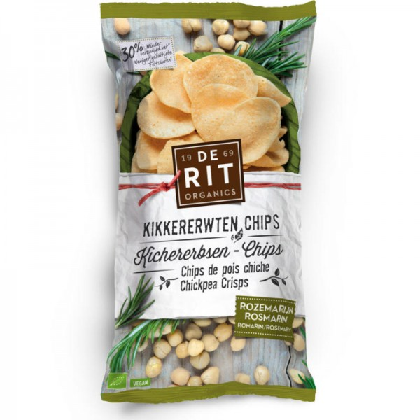 Kichererbsen-Chips Rosmarin Bio, 75g - De Rit