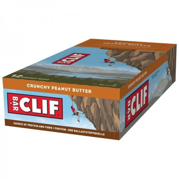 Crunchy Peanut Butter Riegel Box, 12 Stück - Clif Bar