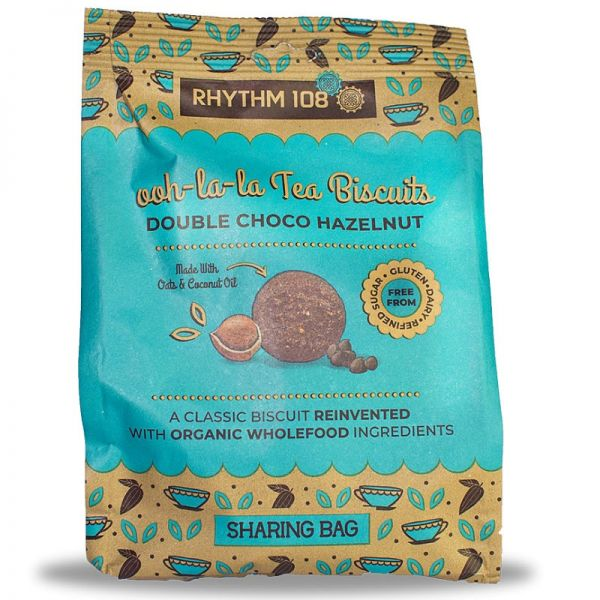 ooh-la-la Tea Biscuits Double Choco-Hazelnut Bio, 135g - Rhythm 108