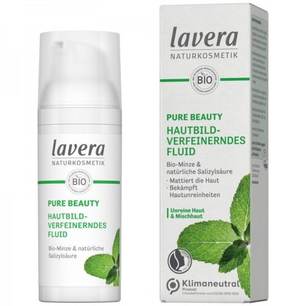 Pure Beauty Hautbildverfeinerndes Fluid für Unreine & Mischhaut, 50ml - Lavera