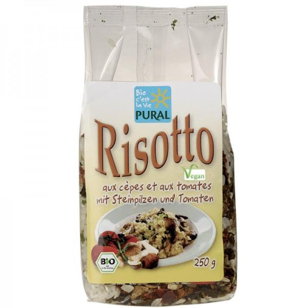 Risotto mit Steinpilzen und Tomaten Bio, 250g - Pural