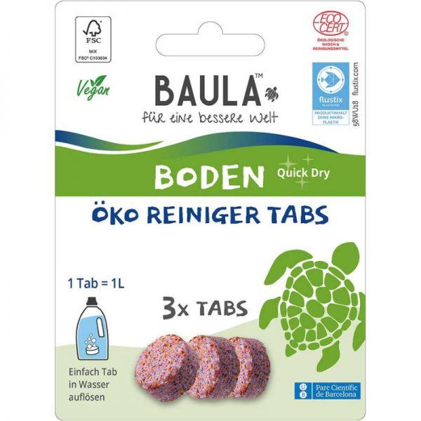 Boden Quick Dry Öko Reiniger Tabs, 3 Tabs - BioBaula
